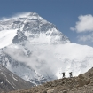 Retracing the journey taken by George Mallory and Sandy Irvine at the foot of Everest.