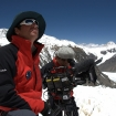 Anthony Geffen directs high altitude cameraman Ken Sauls at North Col.