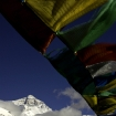 The summit awaits: Mount Everest as seen from Base Camp, May 2007.