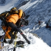 Filming the historic ascent of the Second Step during the Altitude Everest Expedition.