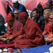 Leo Houlding and Conrad Anker at the puja ceremony at the start of the expedition